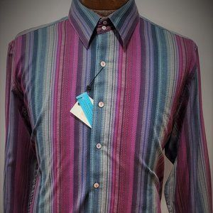 Robert Graham Multi Stripe Button Down